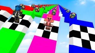 Minecraft ITA - LA CORSA DEI LUCKYBLOCK IN DISCESA!!