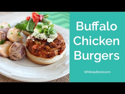 BUFFALO CHICKEN BURGERS - 29 MINUTE MEALS