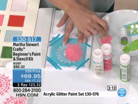 Martha stewart crafts stencil technique martha stewart for Martha stewart crafts spray paint kit