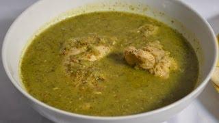 Verde piernas y en salsa muslos pollo
