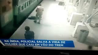 Polícia, esperto, salva, mulher,