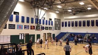 Basketball Player Falls in Free Throw Semicircle Causing Lane Violation - 1015995