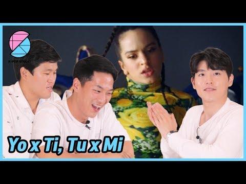 Yo x Ti, Tu x Mi de ROSALÍA, Ozuna, a la cual reaccionaron los hombres coreanos