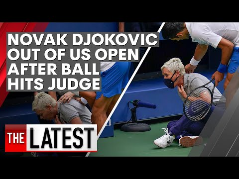 Novak Djokovic Disqualified From Us Open After Line Judge Incident 7news Youtube