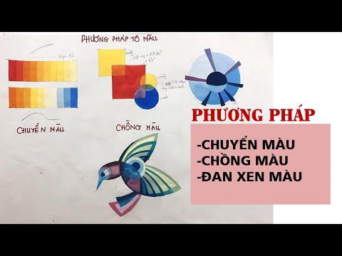 [Luyện thi vẽ trang trí màu] Phương Pháp Chuyển Màu Chồng Màu Và Đan Xen Màu