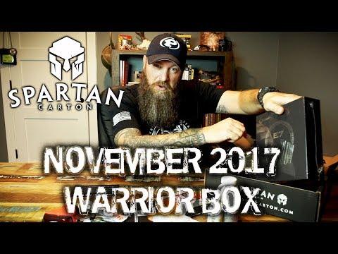 SPARTAN CARTON Battle XXIV November 2017 Box Review