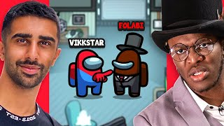 VIKKSTAR vs FOLABI (KSI) in Among Us w/ Sidemen & Friends