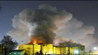 BREAKING Russian shopping mall massive deadly inferno fire escapes locked fire alarms turned off