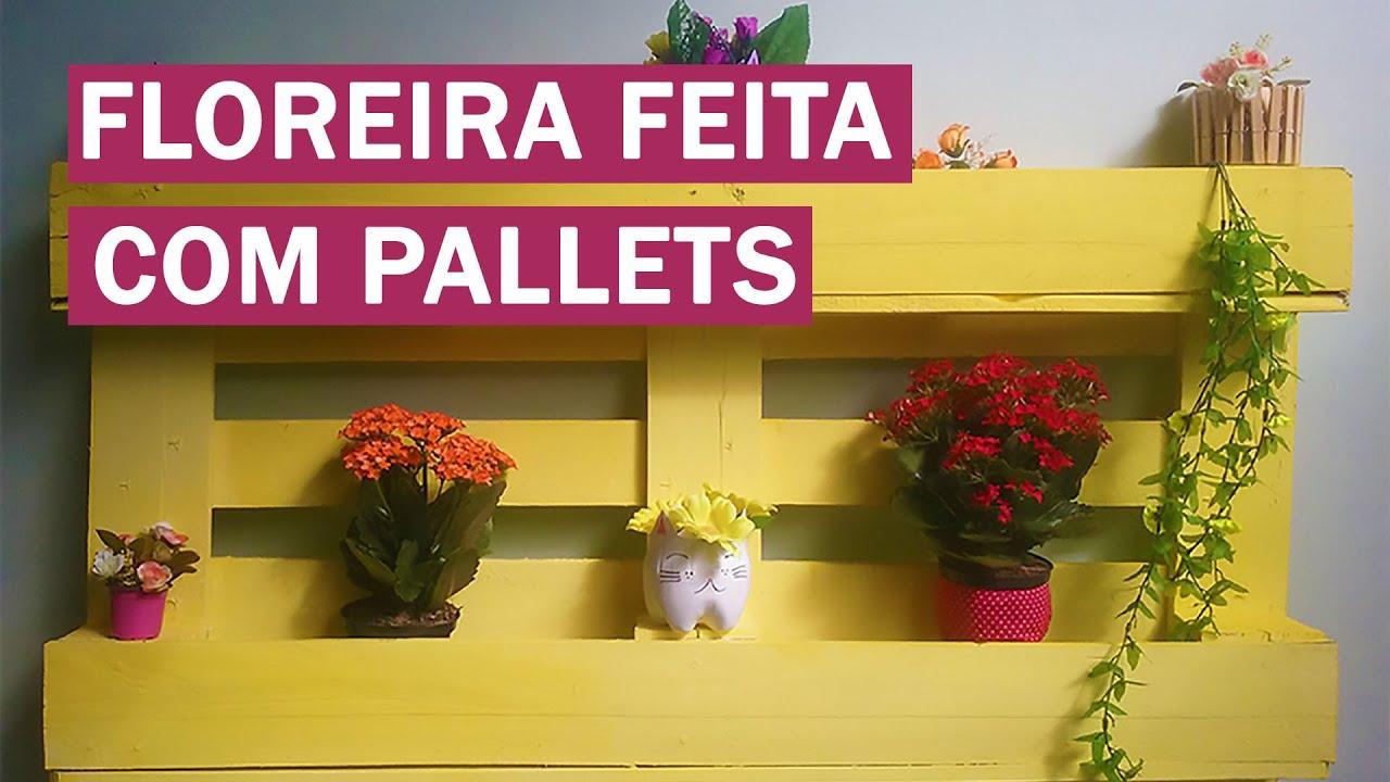 COMO FAZER FLOREIRA DE PALLETS Móveis de Pallets #2   #A98F22 1920x1080