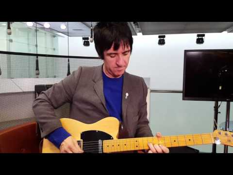 Johnny Marr gives an impromptu mini performance after his BBC World interview