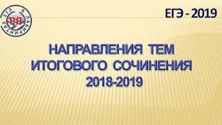 НАПРАВЛЕНИЯ ТЕМ ИТОГОВОГО СОЧИНЕНИЯ 2018-2019 УЧЕБНОГО ГОДА