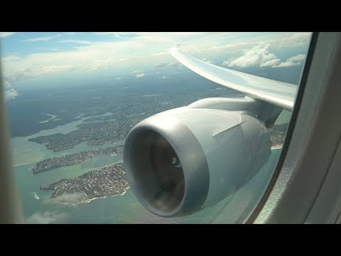 Qantas 787-9 Dreamliner takeoff from Sydney International Airport