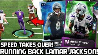 LAMAR JACKSON PLAYS RUNNING BACK! 97 AMARI COOPER! Madden 19 Ultimate Team