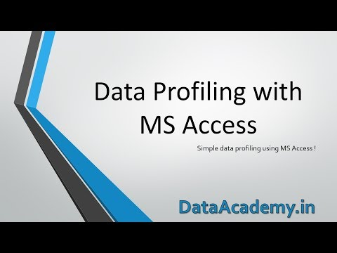 Data Profiling with MS Access