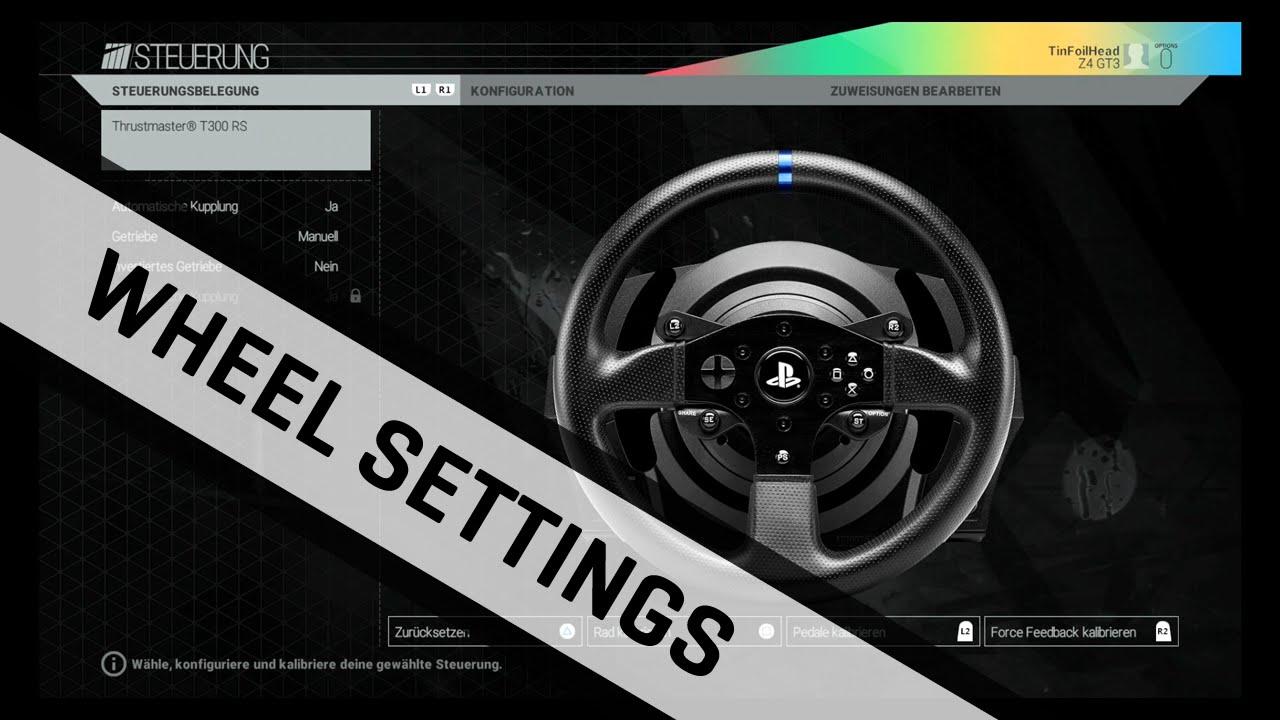 Project CARS | T300 RS Force Feedback Settings | German / Deutsch