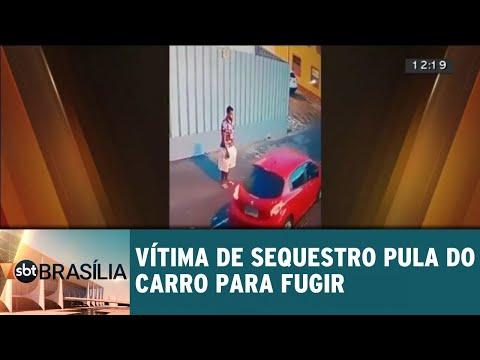 Vítima sequestrada na Asa Sul pula do carro para fugir   SBT Brasília 11/09/2018