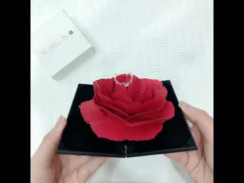 black flower box