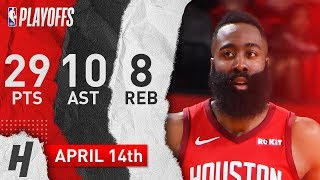 James Harden Full Game 1 Highlights Rockets vs Jazz 2019 NBA Playoffs - 29 Pts, 10 Ast, 8 Reb!