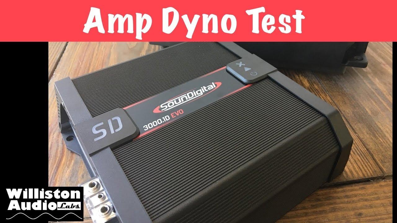 SounDigital SD 3000 1D EVO II Amp Dyno Test