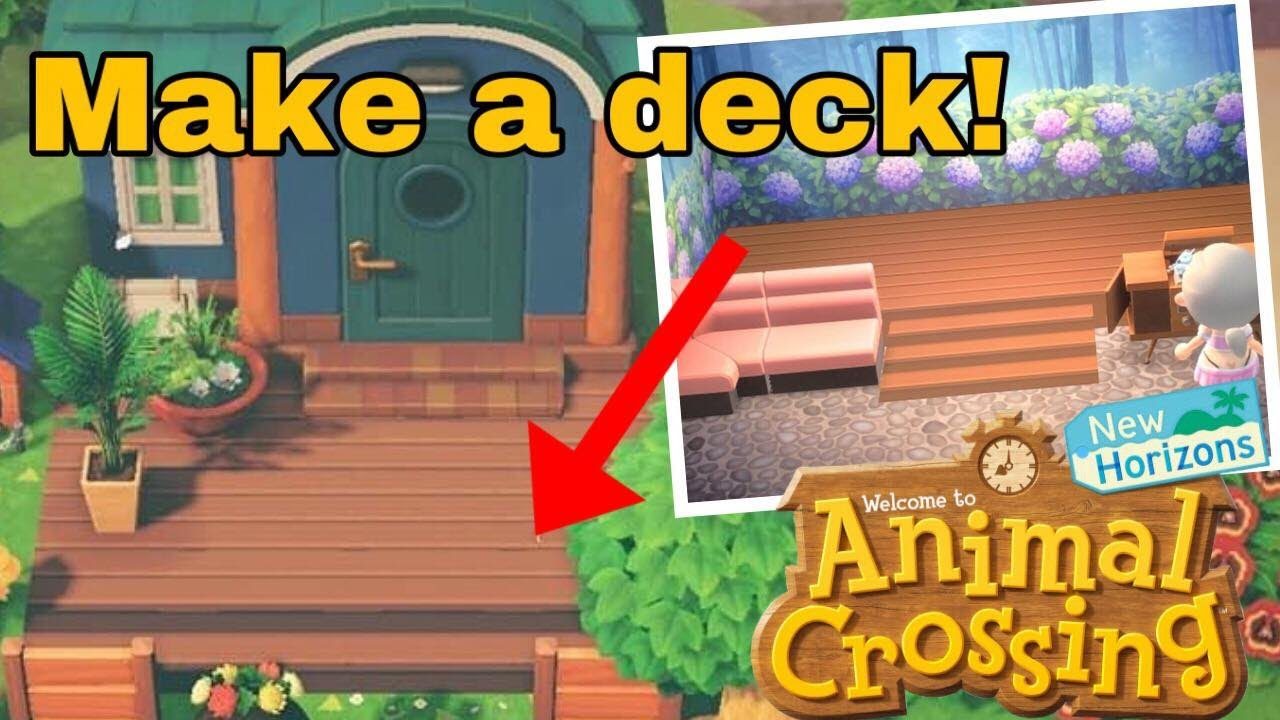 How to Make a Deck in Animal Crossing New Horizon! CUSTOM ...