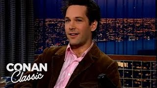"Paul Rudd Spent Thanksgiving At A Bar - ""Late Night With Conan O'Brien"""
