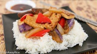 Tofu And Eggplant Stir-fry (dau Hu Xao Ca Tim)