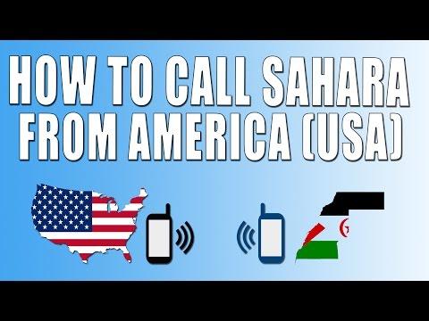 How To Call Western Sahara From America (USA)