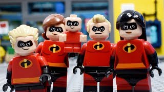 Lego Disney Pixar Incredibles 2 - Stop Motion Cartoon For Kids | Compilation LuckyCleverToys - EP3