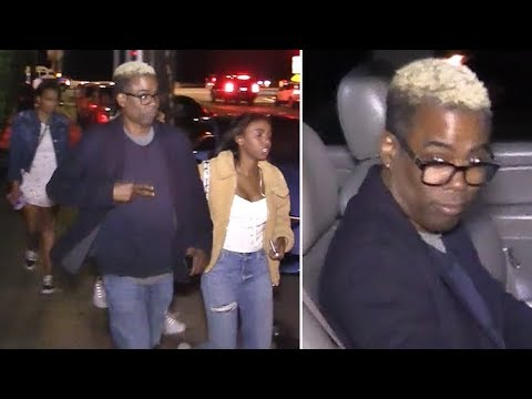Chris Rock Goes Blonde For Daddy-Daughter Date Night In Santa Monica EXCLUSIVE