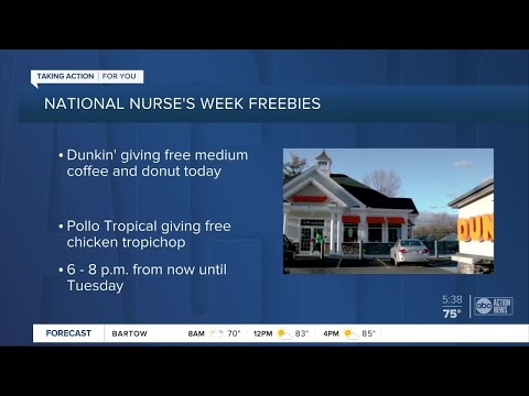 Deals And Freebies Offered To Healthcare Workers During National Nurses Week
