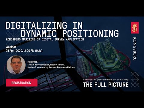 Webinar - Digitalizing in Dynamic Positioning
