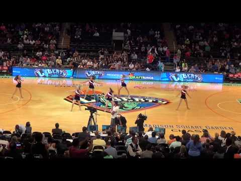 United States Acrobatic & Dance Team performing at the NY Liberty Game - 08-28-2015