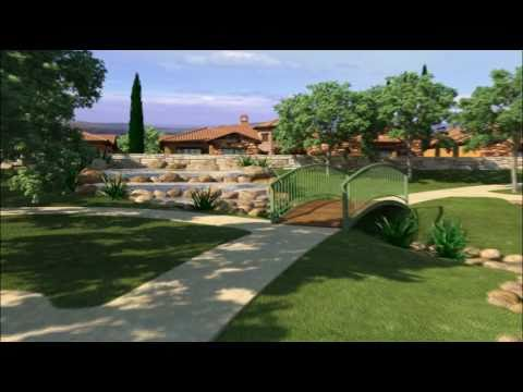 TresD 3D animation (Tuscan Village Club House) Exterior and Interior www.TresD.com