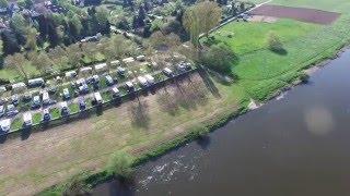Campingplatz Hameln an der Weser - Luftaufnahme
