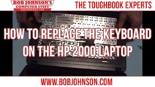 How to replace the keyboard on the HP 2000 Laptop