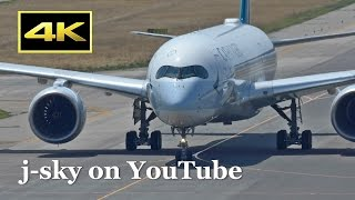 [4K] Airbus A350-900 - Vietnam Airlines and Cathay Pacific Airways at Kansai Airport / 関西国際空港