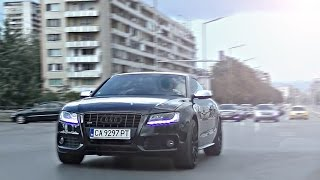 Audi S5 w/ Akrapovic Exhaust - LOUD Revs and Accelerations