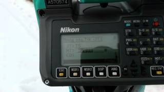 Инструкция по установке станции на тахеометре Nikon Niva (DTM, NPL, NRP)