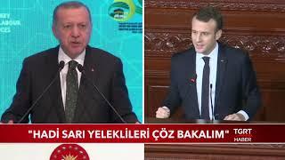 Cumhurbaşkanı Erdoğan: ''Hadi Sarı Yeleklileri Çöz Bakalım''