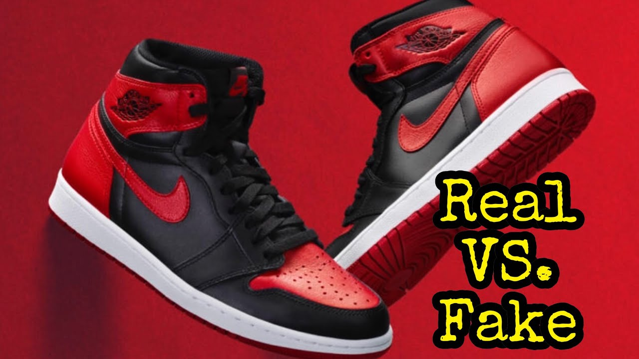 "1f52a1d7fae BEST Real vs. Fake    Jordan 1 ""Bred Banned 2016"" - YouTube"