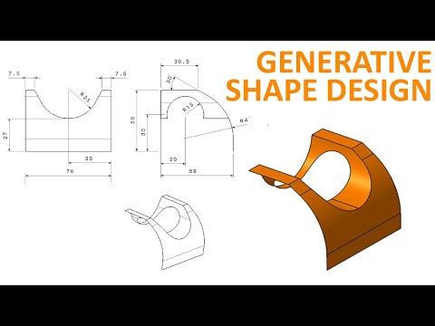 Generative Shape Design #1 - CATIA V5 Beginner Tutorial - How to use Extrude and Split