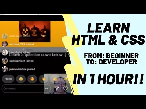 Learn HTML & CSS In 1 Hour! Code With Me! No Software Or Fancy Computer Needed!