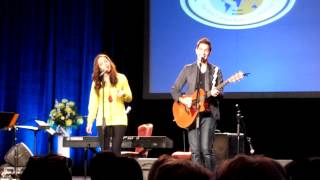 Aijia and Andy Grammer singing Wonderful World