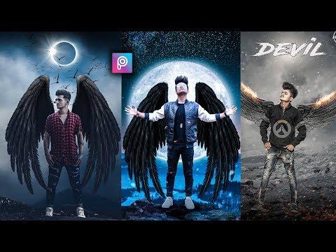 PicsArt Devil Wings Photo Editing Tutorial In Picsart Step By Step In Hindi - Taukeer Editz