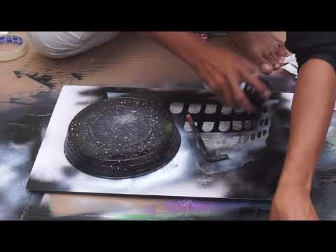 Spray Painting Graffiti Painting Excellent Skill on Display Learn and do Street Art