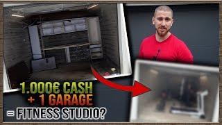 Aus Garage und 1.000€ Fitness Studio bauen in 24h