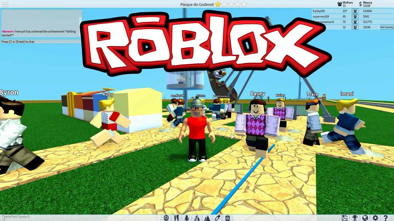 Roblox - O Parque Temático do Godenot ( Theme Park Tycoon 2 ...