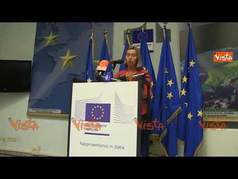 """Iran, Mogherini: """"L'Europa preserverà l'accordo sul nucleare. Speriamo che gli USA ci ripensino"""""""