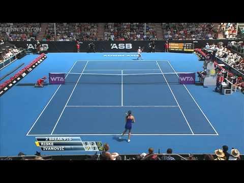▶ Ana Ivanovic vs Alison Riske Auckland 2014 R1