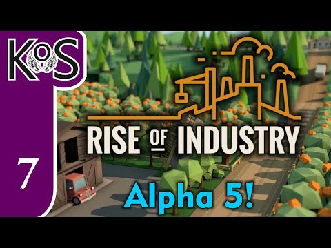 Rise of Industry Ep 7: TRAINS FULL OF GIFTWRAP! - (Alpha 5) - Let's Play, Gameplay